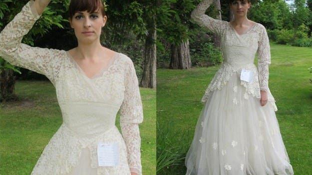La conmovedora carta en un vestido de novia, viral en la web ...