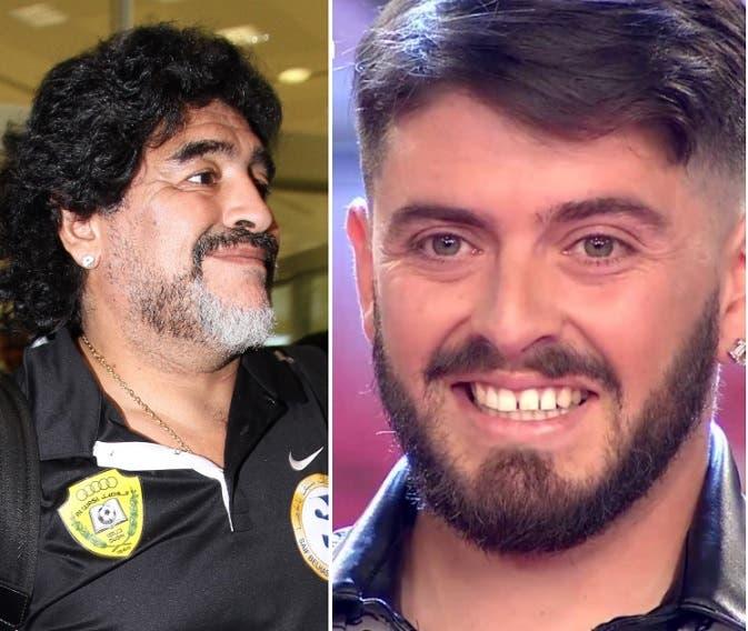 El emocionante beso entre Maradona y Diego Jr