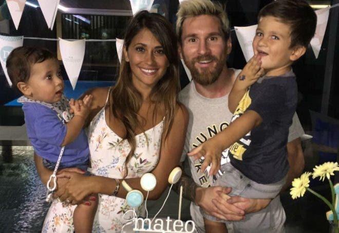 Leo Messi celebró el primer año de su hijo Mateo