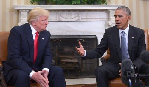 Obama y Trump se reúnen por primera vez