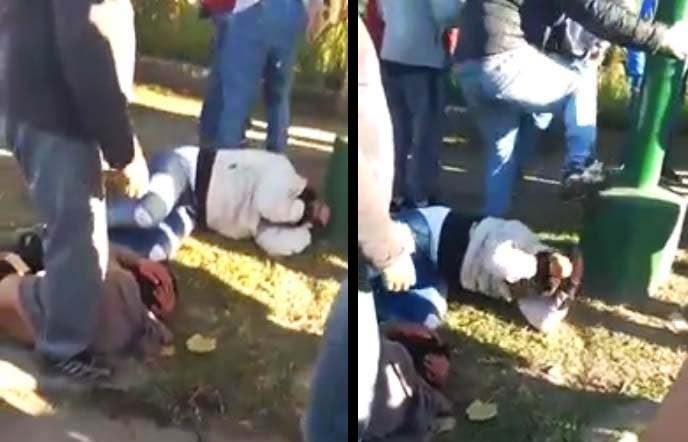 Vecinos lincharon a dos motochorros