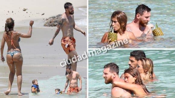 Messi y Antonela a puro mimos en su luna de miel paradisíaca