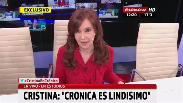 Cristina Kirchner afirmó
