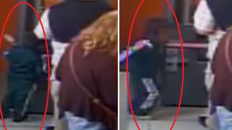 Niño roba dinero de cajero automático en sólo segundos