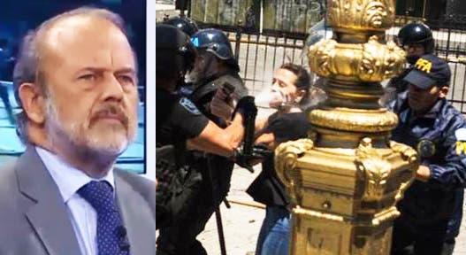 Amadeo justificó la represión contra Mayra Mendoza: