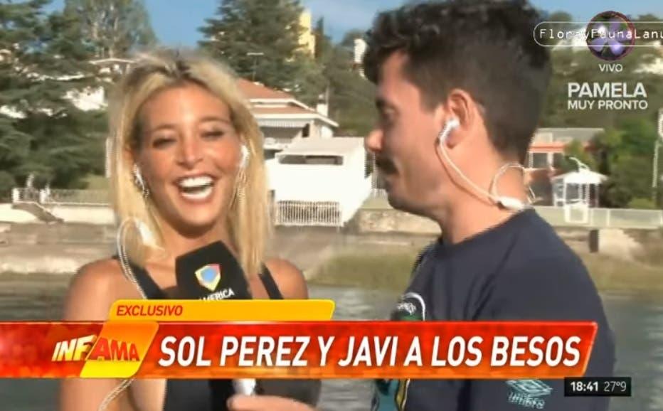 ¡Tremendo! Sol Pérez se chapó a un cronista en vivo