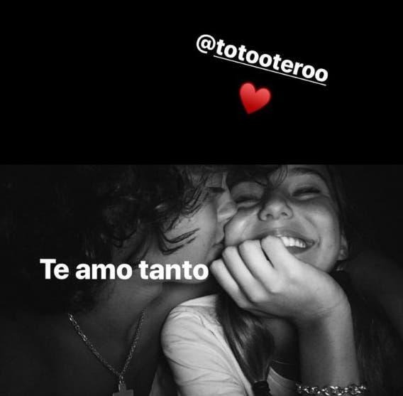La tierna foto de Juanita Tinelli y Toto Otero juntos y enamorados