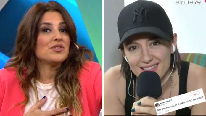 Maju Lozano se enojó y levantó un móvil con Malena Pichot