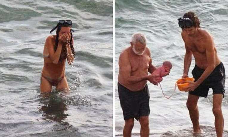 Increíble: una mujer dio a luz en el mar
