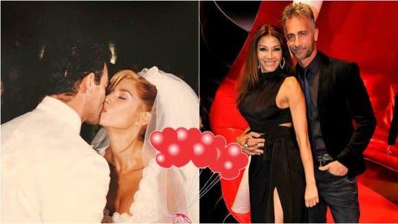 Catherine Fulop y Ova Sabatini cumplieron 20 años de casados