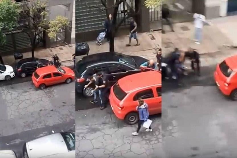 Ladrón se escapa en el auto de un policía