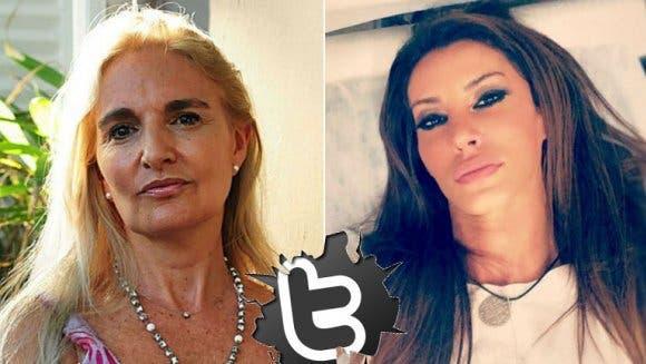 Silvia D'Auro, la ex de Rial, cruzó a Natacha Jaitt en Twitter