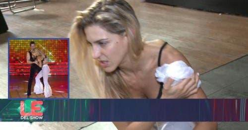 La tremenda caída de Macarena Rinaldi — Duele