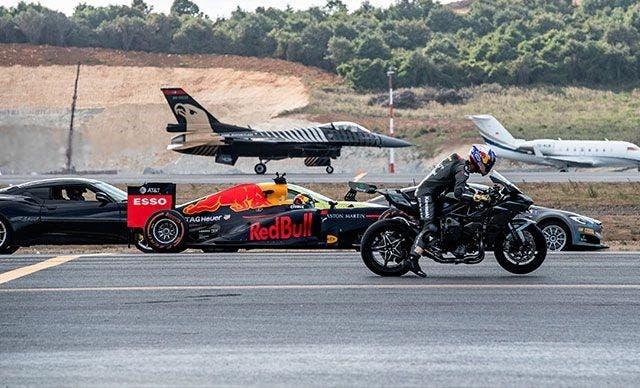 ¿Qué es más rápido: una moto, un caza o un Fórmula 1?