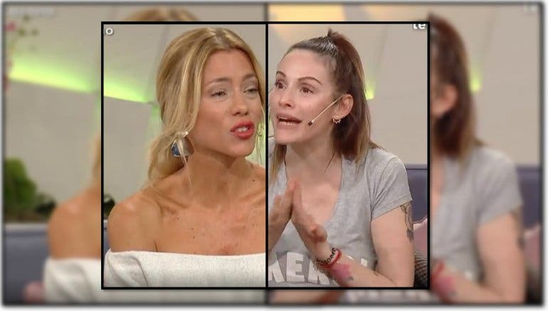 Fuerte cruce entre Connie Ansaldi y Nicole Neumann