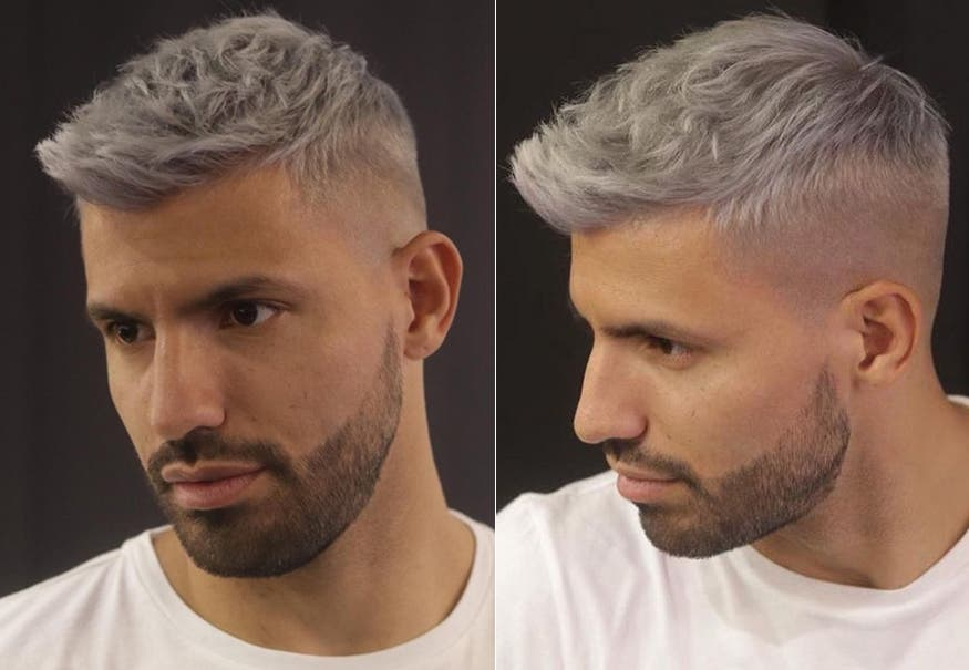 ¡Qué color de pelo! El radical cambio de look del Kun Agüero