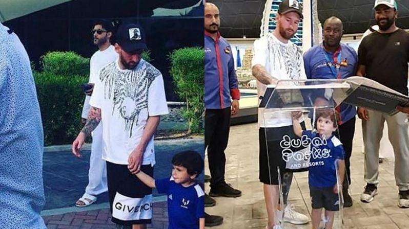 Messi, comensal de lujo del chef Salt Bae en Dubái