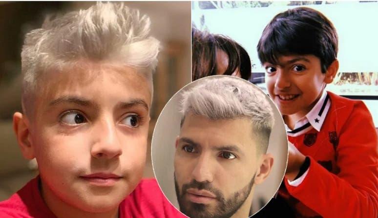 El hijo del Kun Agüero y Gianinna Maradona sorprendió a su papá con una imitación