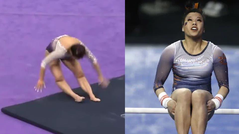 Resultado de imagen para Una gimnasta se rompió las dos piernas