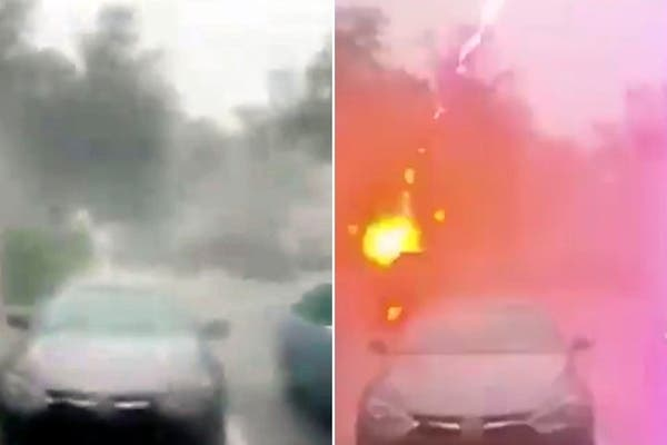 Video del momento exacto de la caída de un rayo en Florida