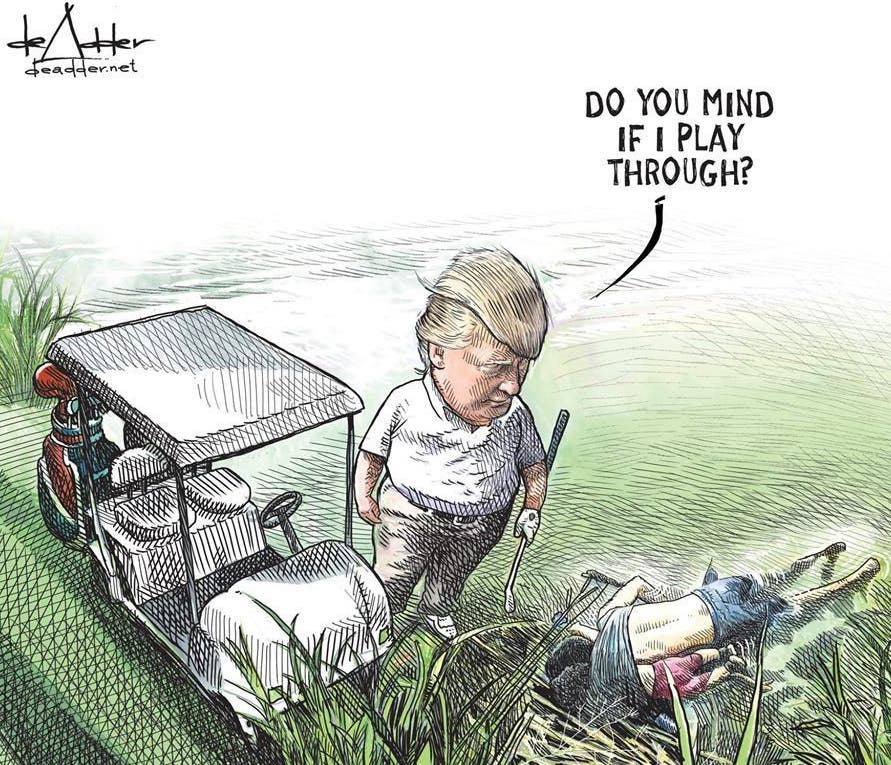 Pierde su trabajo por un dibujo de Trump que se hizo viral