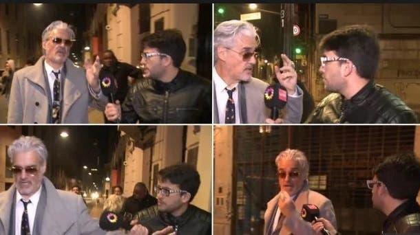 Roberto Pettinato, a los empujones con un cronista
