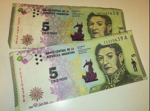 Dejarán de circular los billetes de 5 pesos