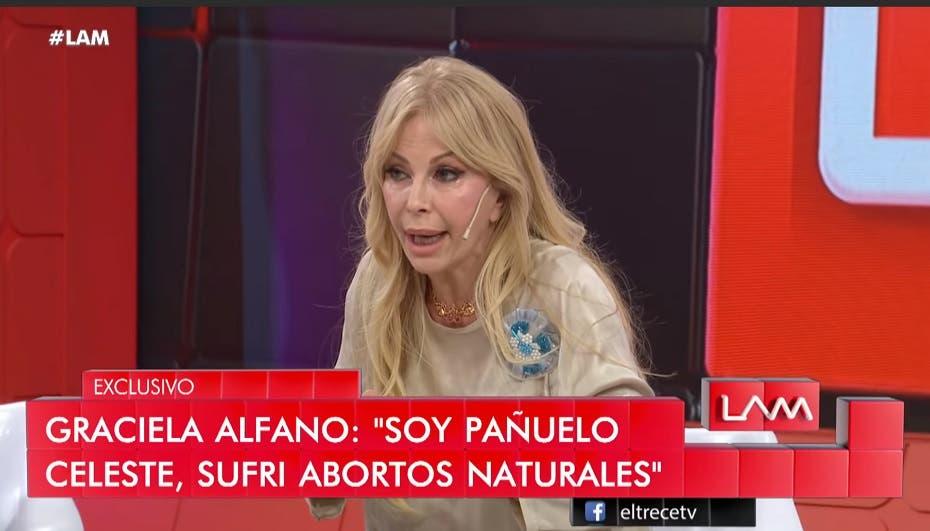 La durísima revelación de Graciela Alfano — Aborto