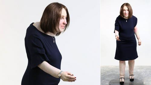 Emma, el muñeco que muestra el deterioro físico de un oficinista