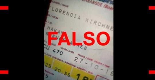 Cristina Kirchner viaja a Cuba y la despiden con euforia en Ezeiza