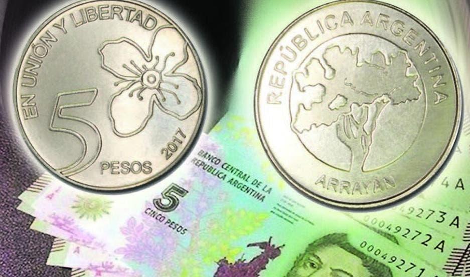En febrero saldrán de circulación los billetes de cinco pesos