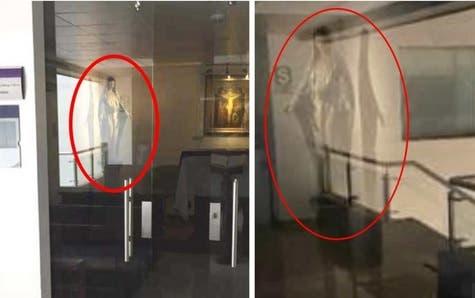 Captan aparición de la Virgen María ante enfermos de coronavirus