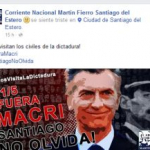 Agrupación ZAMORISTA compara a Macri con Videla y convoca a arruinar la visita presidencial a Santiago del Estero