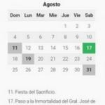 Conocé el calendario con todos los feriados y días no laborables de 2018