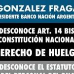 Asambleas en todas las sucursales del Banco Nación en Tucumán