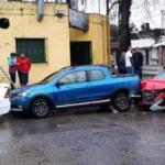 Choque múltiple y en cadena en la esquina de Pellegrini y San Lorenzo