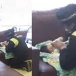 Una policía le salvó la vida a un bebé sietemesino en pleno centro