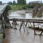 Alarma en Río Seco por el estado en el que quedó un puente sobre la ruta 38