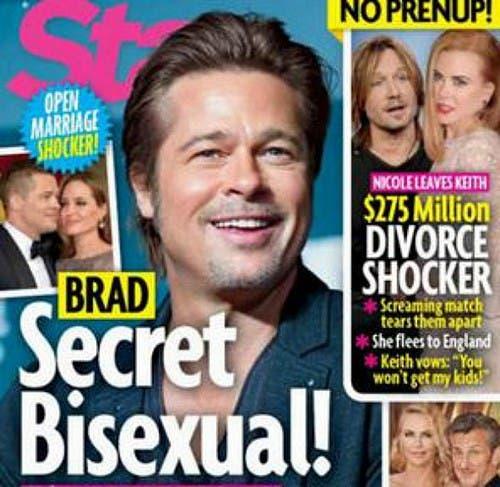 Brad Pitt se lo monta con hombres, y Angelina lo sabe: revista Star