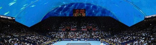 Esta es la cancha de tenis que dubai prepara bajo el mar for El hotel que esta debajo del agua